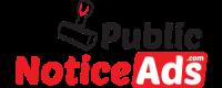Public Notice ads in Newspaper | Public Notice ad rates | Public Notice ad sample