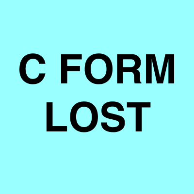 C Form lost notice ads | Ahmedabad Newspapers | Lost & Found