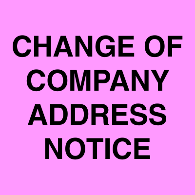 Change of Company address notice ads | Ahmedabad Newspapers
