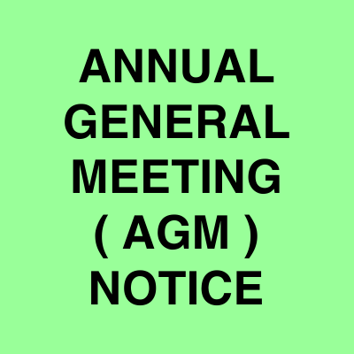 AGM notice ads | Ahmedabad Newspapers