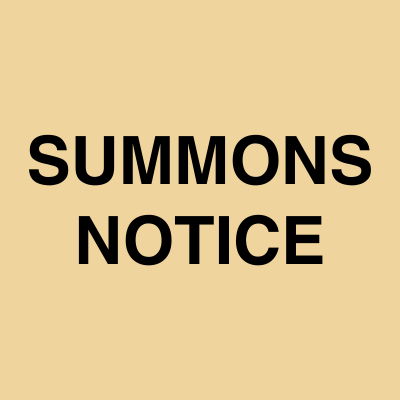 Summons notice ads | Ahmedabad Newspapers