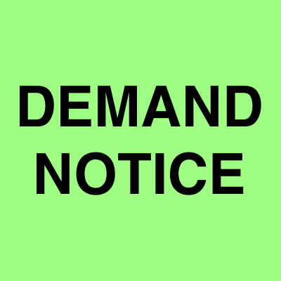 Demand Notice ads | Ahmedabad Newspapers | Public Notice ads