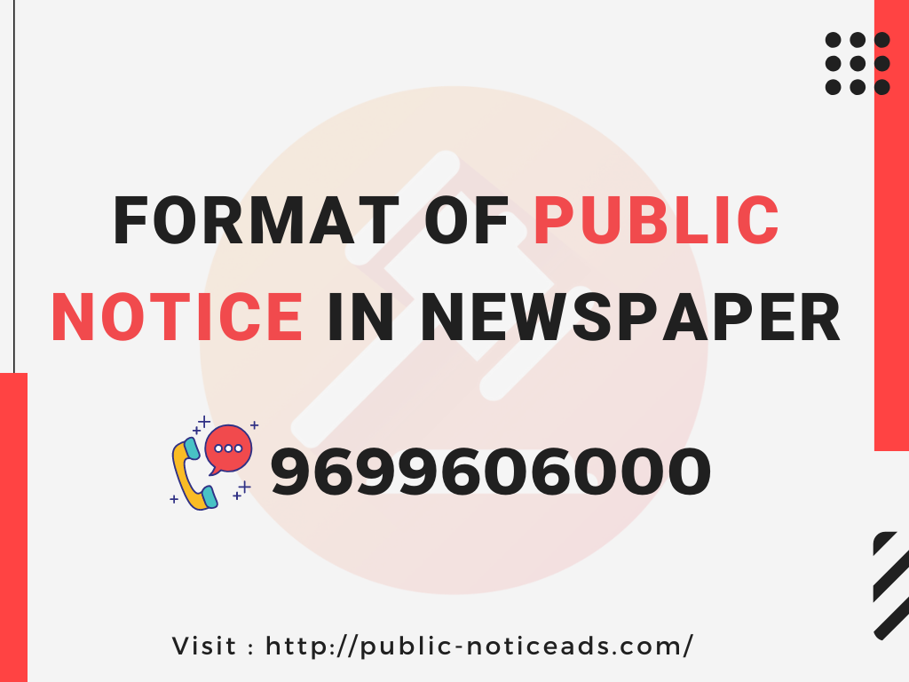 book public notice ad in newspaper, ad rates for property purchase notice ad in newspaper,